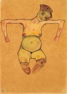 egon-schiele-reclining-pregnant-woman