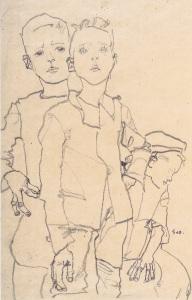Egon_Schiele_-_Drei_Gassenbuben_-_1910