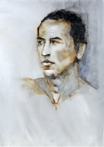 Portrait in oil