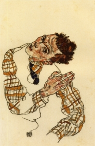 self-portrait-with-checkered-shirt-1917